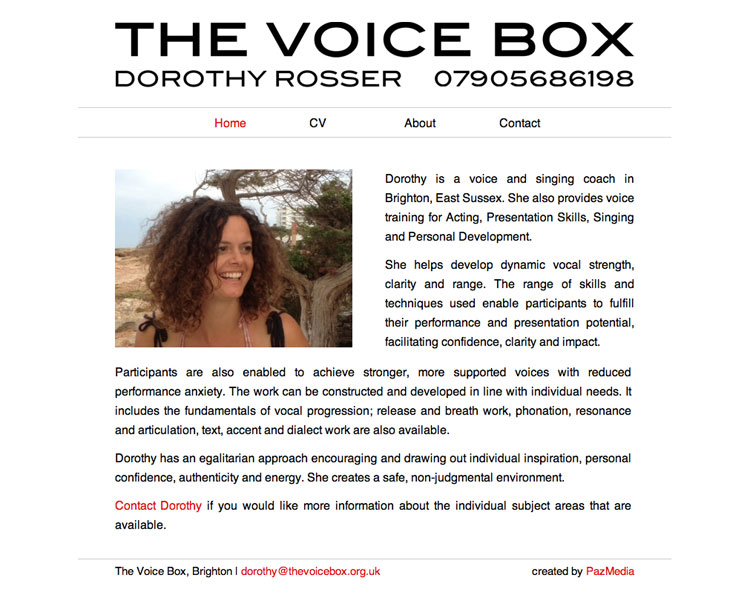 The Voice Box | Singing and voice coaching in Brighton, UK | Dorothy Rosser